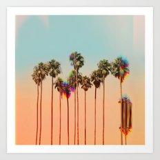 Glitch beach Art Print