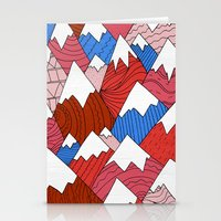 The Red Mountains (Pattern) Stationery Cards