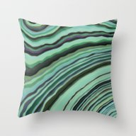 Mineralicious~Mint Tourm… Throw Pillow