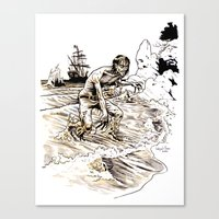 Out of the Sea of Red Canvas Print
