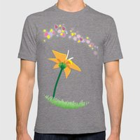 Flower Mens Fitted Tee Tri-Grey SMALL