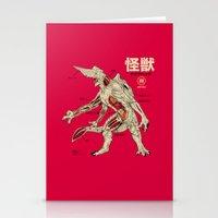Kaiju Anatomy Stationery Cards
