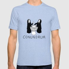 Conundrum Mens Fitted Tee Tri-Blue SMALL
