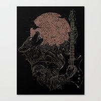 The Rock Werewolf Canvas Print