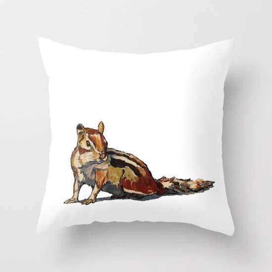 Chipmunk For You Throw Pillow