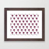 Fandango Flower Pattern Framed Art Print