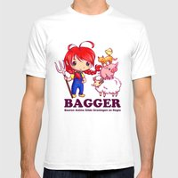 BAGGER Lotje And The Far… Mens Fitted Tee White SMALL
