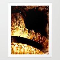 vintage chandelier Art Print
