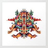 XL Mask Art Print