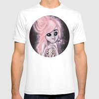 aliena skeleton Mens Fitted Tee White SMALL