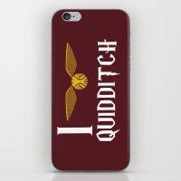 I Love Quidditch iPhone & iPod Skin