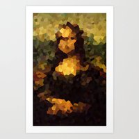 Pixelated Mona Lisa Art Print