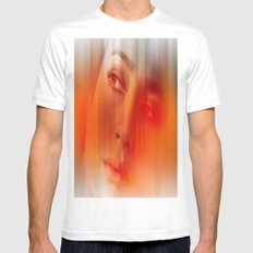 Orange portrait  Mens Fitted Tee White SMALL