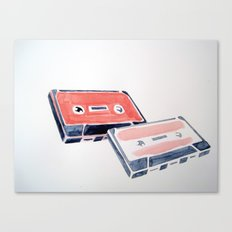 Pink cassette tapes Canvas Print