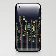 iPhone & iPod Skin featuring Overgrown Flowers by Budi Kwan