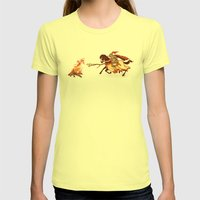 Marshmallow Joust Womens Fitted Tee Lemon SMALL