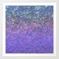Sparkley Grunge Relief Background G181 Art Print