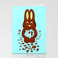 Chocolate Hunting Stationery Cards