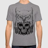 Owlskull Mens Fitted Tee Tri-Grey SMALL