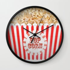POP CORN Wall Clock