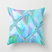 Re-Created  Glass Ceiling VII by Robert S. Lee Throw Pillow