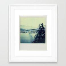 Lions Bridge - Polaroid Framed Art Print