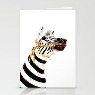 Carousel Zebra Stationery Cards