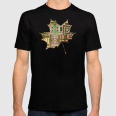 Autumn Black Mens Fitted Tee SMALL