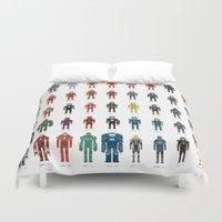 Iron Man - The Pixel Col… Duvet Cover