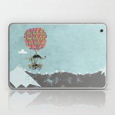 Riding A Bicycle Through The Mountains Laptop & iPad Skin