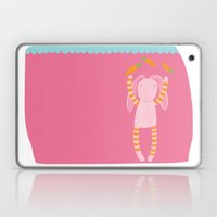 rabbits play with their food Laptop & iPad Skin