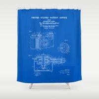 Camera Patent 1938 - Blueprint Shower Curtain