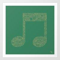 Techno Music Art Print