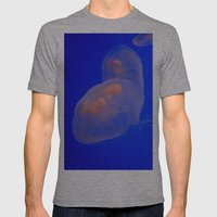 Beautiful Glowing Colorful JellyFish Floating in a Marine  Aquarium Mens Fitted Tee Athletic Grey SMALL