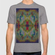 Mandala H Mens Fitted Tee Athletic Grey LARGE