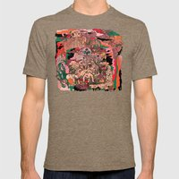 Village of Forest Mens Fitted Tee Tri-Coffee SMALL