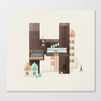 Resort Type - Letter H Canvas Print