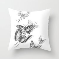 Fly Butterflies Fly Throw Pillow