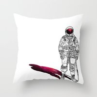 The astonaut Throw Pillow
