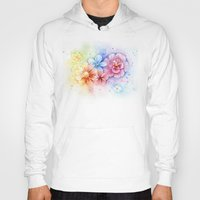 Flowers Watercolor Flora… Hoody