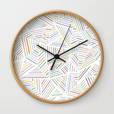Ab Linear Rainbowz Wall Clock