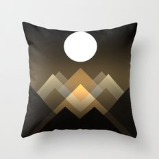 Path Between Hills Throw Pillow