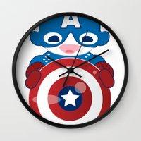 CAPTAIN AMERICA ROBOTIC Wall Clock
