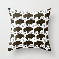 Follow The Herd Throw Pillow