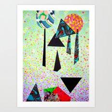 Ombre mixed media print Art Print
