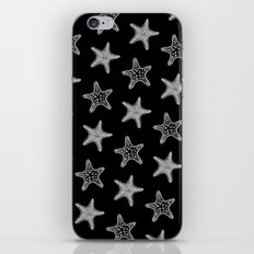 Starfish White on Black iPhone & iPod Skin