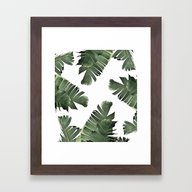 Banana Leaf Frenzy #soci… Framed Art Print