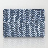 Hand Knit Navy iPad Case