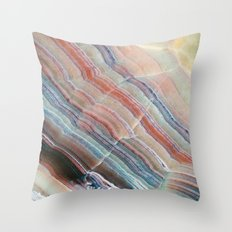 Pastel Onyx Marble Throw Pillow