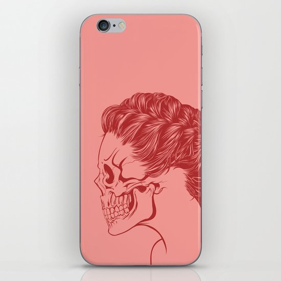 Skull Girl 4 iPhone & iPod Skin